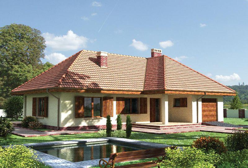 Фото дизайн фасадов одноэтажных домов